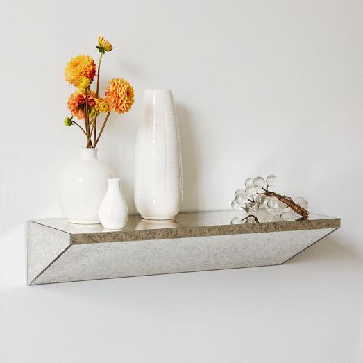 Floating Wedge Shelf Foxed Mirror West Elm