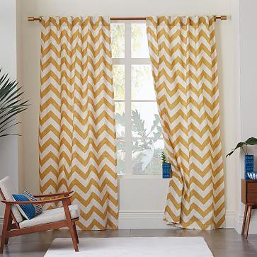Orange And White Zig Zag Curtains - Best Curtains 2017