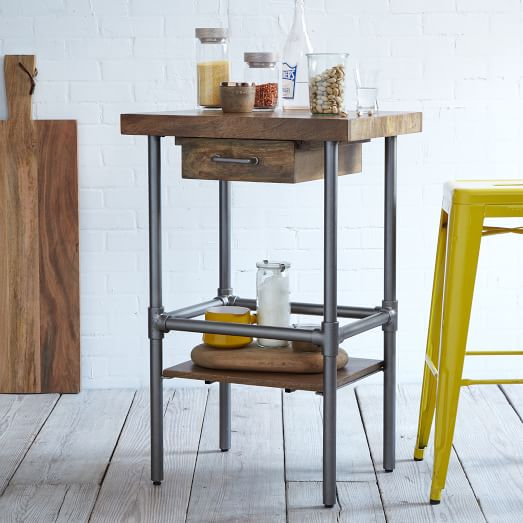 Industrial Kitchen Prep Table: Rustic Industrial Kitchen Prep Counter