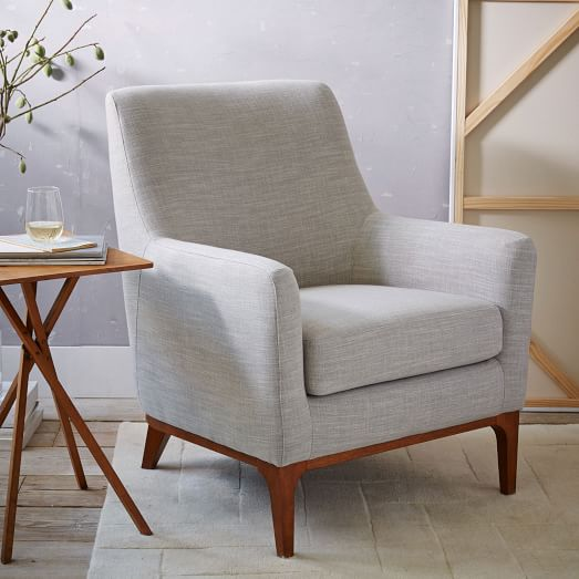 Sloan upholstered chair west elm for Upholstered living room chairs sale