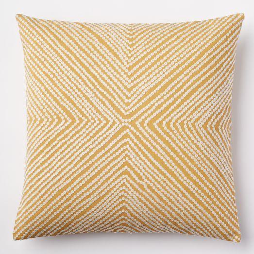 diamond dot crewel pillow cover golden gate west elm. Black Bedroom Furniture Sets. Home Design Ideas