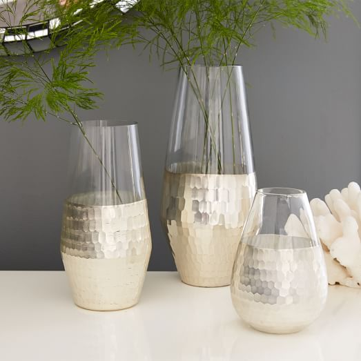 Metallic Honeycomb Vases West Elm
