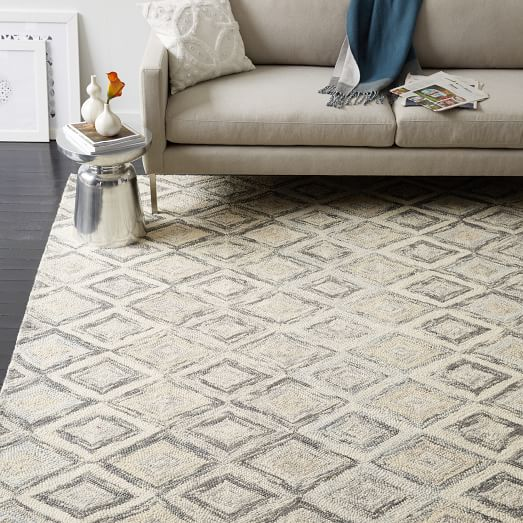Prism Wool Rug Slate West Elm