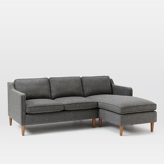 Hamilton 2 piece upholstered chaise sectional west elm for 2 piece sectional with chaise