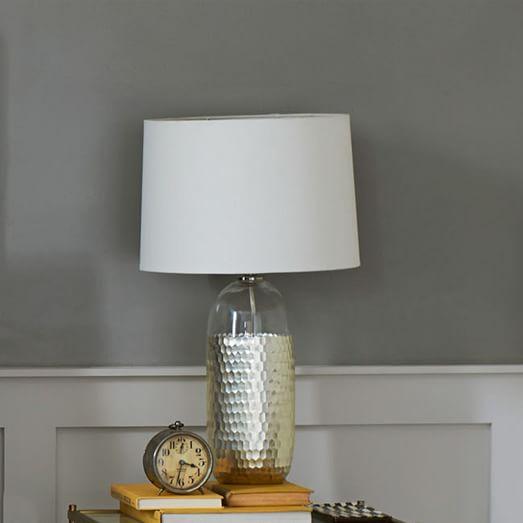 metallic honeycomb table lamp west elm. Black Bedroom Furniture Sets. Home Design Ideas