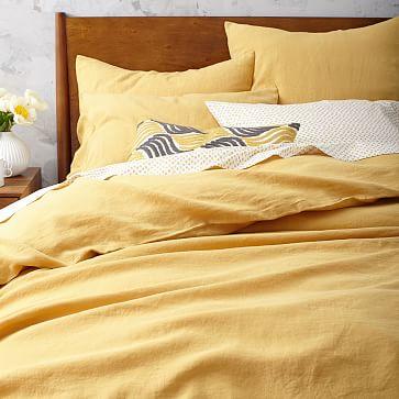 Belgian Flax Linen Duvet Cover Horseradish West Elm