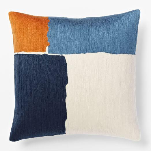Steven Alan Abstract Crewel Pillow Cover Midnight West Elm
