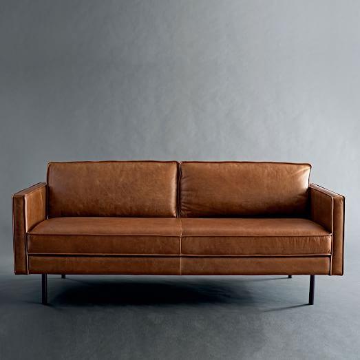 axel leather sofa west elm. Black Bedroom Furniture Sets. Home Design Ideas