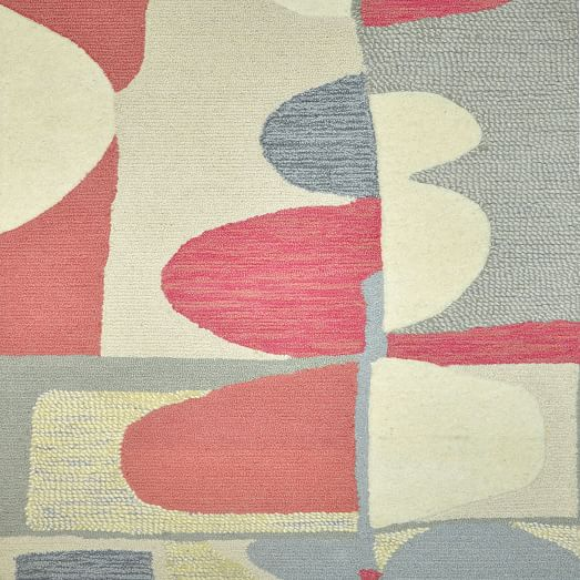 Christopher Wynter Art Rug Ivory: Christopher Wynter Special Order Abstract Wool Rug