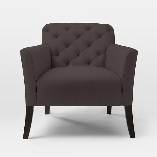 Elton Arm Chair, Basketweave, Iron