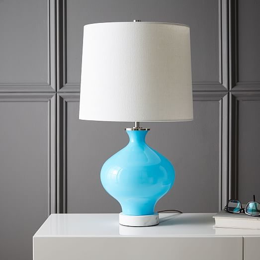 west elm rejuvenation colored glass table lamp small west elm. Black Bedroom Furniture Sets. Home Design Ideas