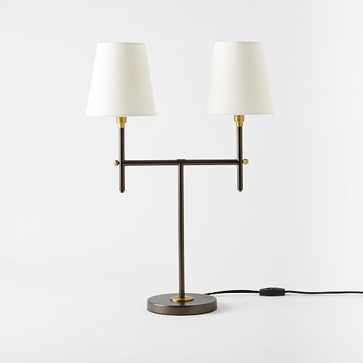 arc mid century table lamp medium antique bronze. Black Bedroom Furniture Sets. Home Design Ideas