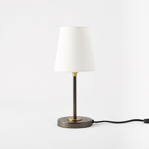 arc mid century table lamp small west elm. Black Bedroom Furniture Sets. Home Design Ideas