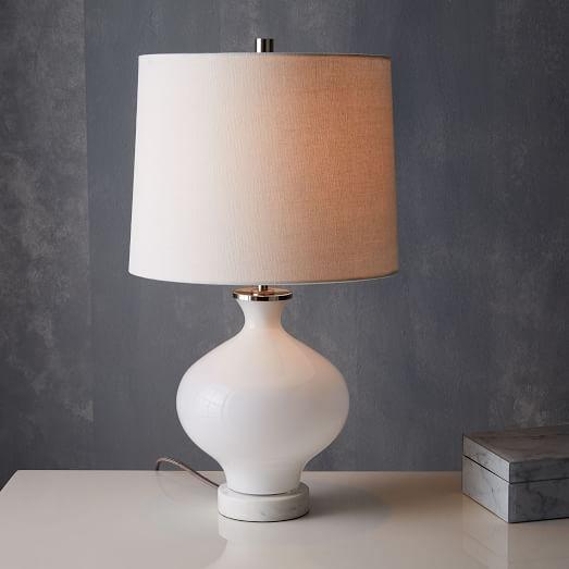 West Elm Rejuvenation Colored Glass Table Lamp