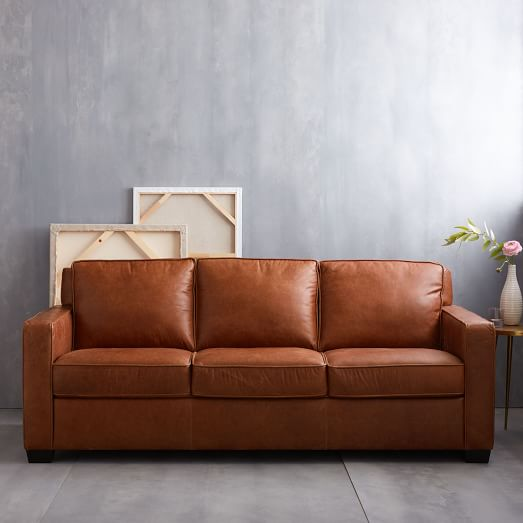 Henry Leather Sofa: Henry® Leather Sofa - Tobacco