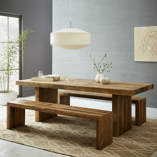 Emmerson Reclaimed Wood Dining Bench: Emmerson™ Reclaimed Wood Expandable Dining Table
