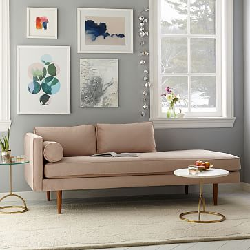 Monroe Mid-Century Chaise Lounger | west elm