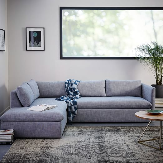 Shelter 2 Piece Terminal Chaise Sectional West Elm