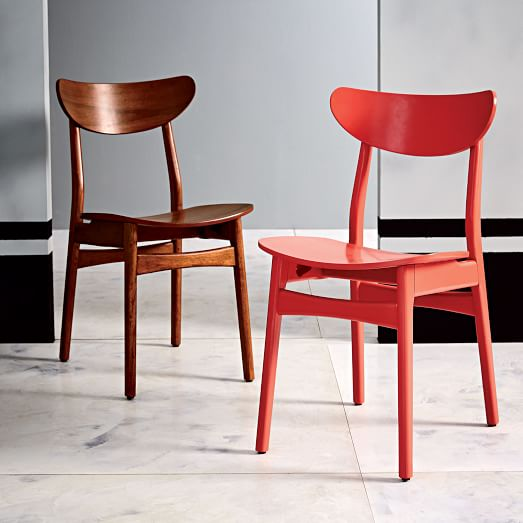 Classic Caf Dining Chair Lacquer Wood West Elm