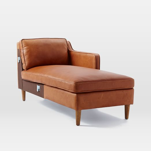 Hamilton leather sectional add ons west elm for Sectional sofa hamilton