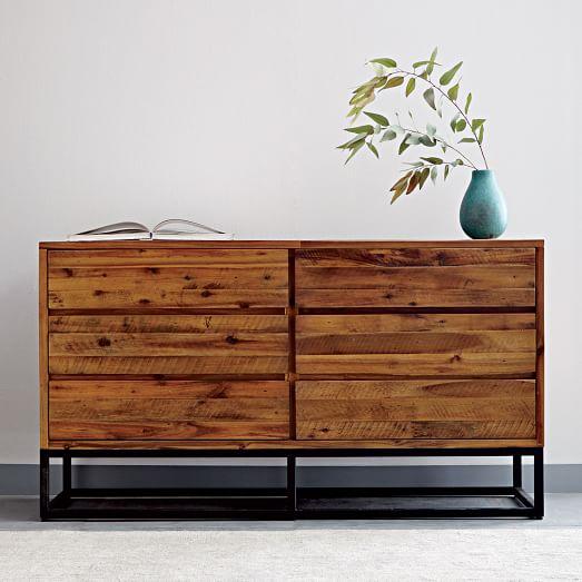 Logan 6 Drawer Dresser Natural West Elm