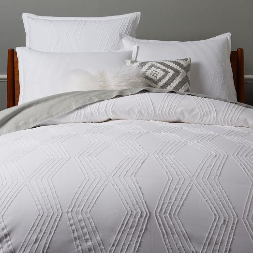 roar rabbit zigzag texture duvet cover shams west elm. Black Bedroom Furniture Sets. Home Design Ideas