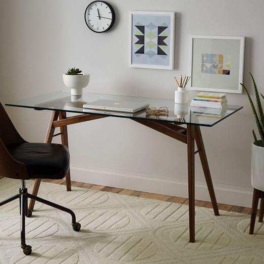 Jensen desk west elm for Best study desk design