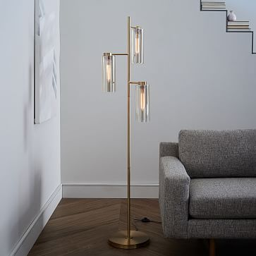 Glass Cylinder Floor Lamp West Elm