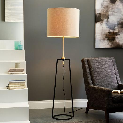 Mixed Metal Adjustable Floor Lamp Antique Bronze West Elm