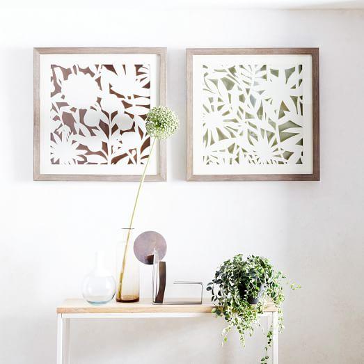 modern paper cut out wall art flower west elm