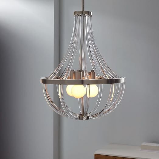 West Elm Lighting Sale: Acrylic Curve Chandelier