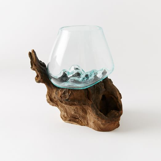 Wood + Glass Terrarium, Small, Tall