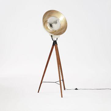 Overarching Floor Lamp Antique Brass West Elm