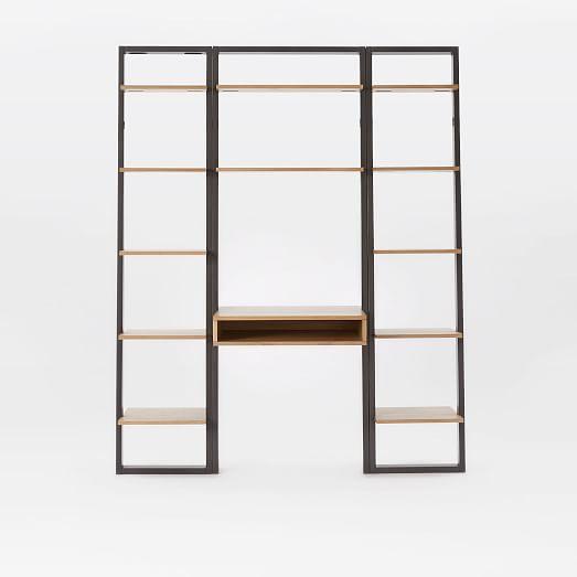 Ladder Shelf Desk Narrow Bookshelf Set West Elm