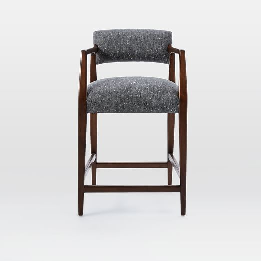 Landon Upholstered Counter Stool West Elm