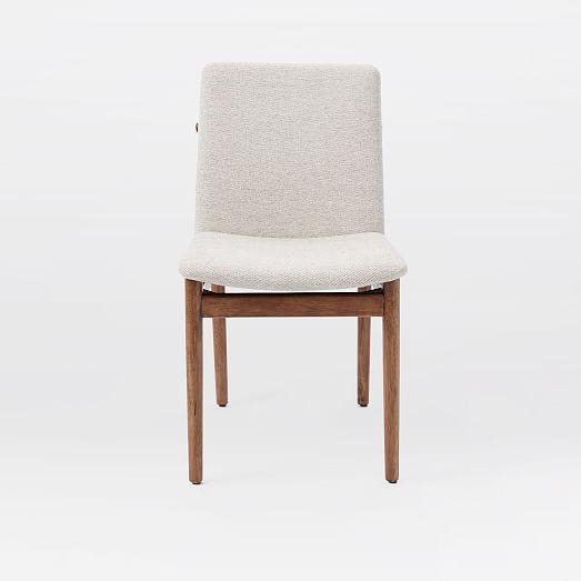 Framework Upholstered Dining Chair Stone Twill West Elm