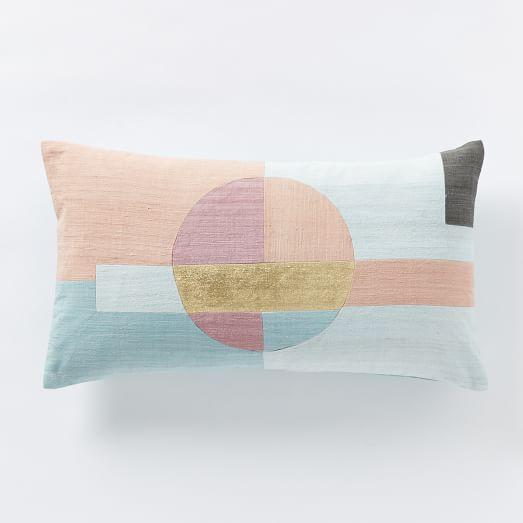 roar rabbit circle pillow cover flax west elm. Black Bedroom Furniture Sets. Home Design Ideas