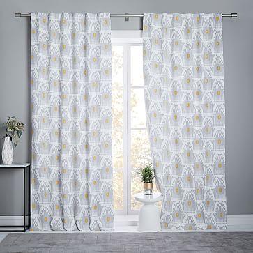 window curtains drapes west elm. Black Bedroom Furniture Sets. Home Design Ideas