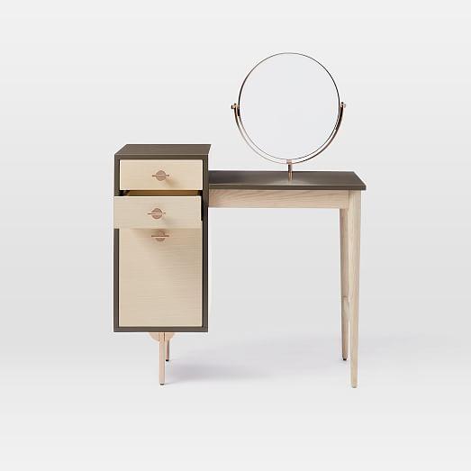 Greta vanity mirror west elm for Porada beauty dressing table