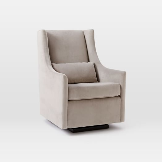 Graham Glider, Performance Velvet, Dove Gray