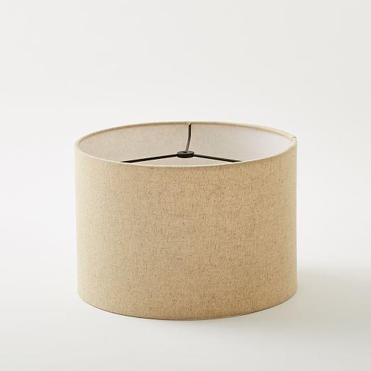 classic lamp shade drum large west elm. Black Bedroom Furniture Sets. Home Design Ideas