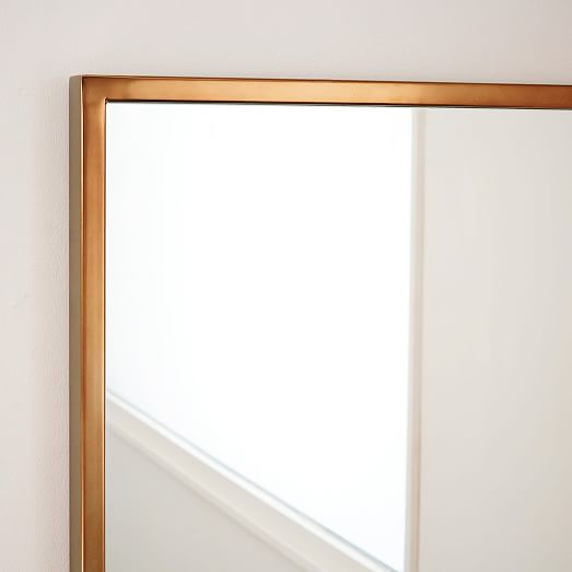metal framed asymmetrical wall mirror rose gold view larger roll over image to zoom
