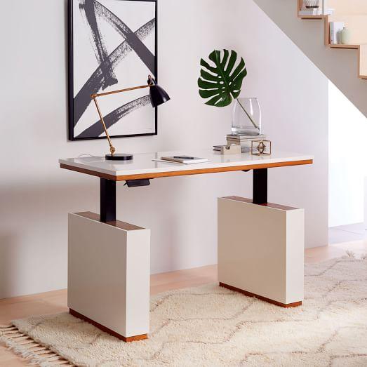 Modern Sit Stand Adjustable Desk West Elm