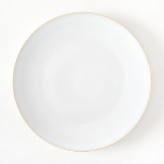 Alta Reactive Glaze Dinner Plate,White, Set of 4