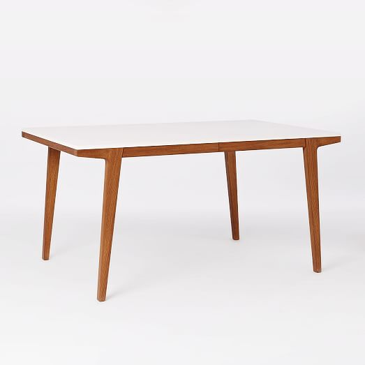 Modern expandable dining table west elm for Table moderne