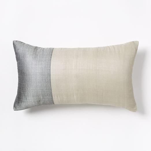sari silk pillow cover platinum west elm. Black Bedroom Furniture Sets. Home Design Ideas