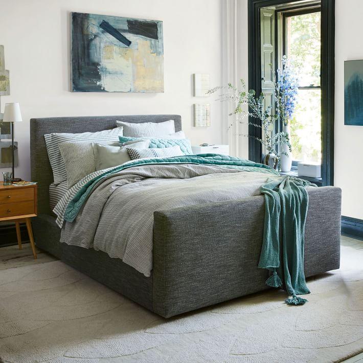 urban bed heathered tweed west elm