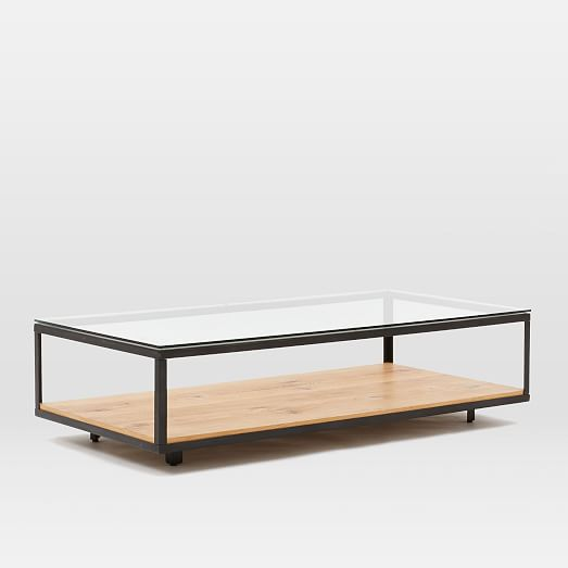 industrial display coffee table west elm
