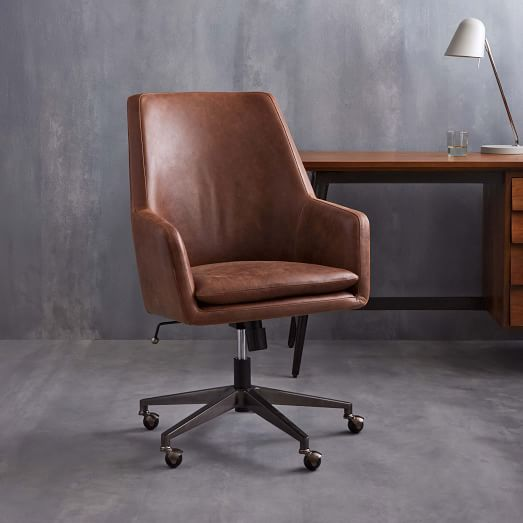 Helvetica High Back Leather fice Chair