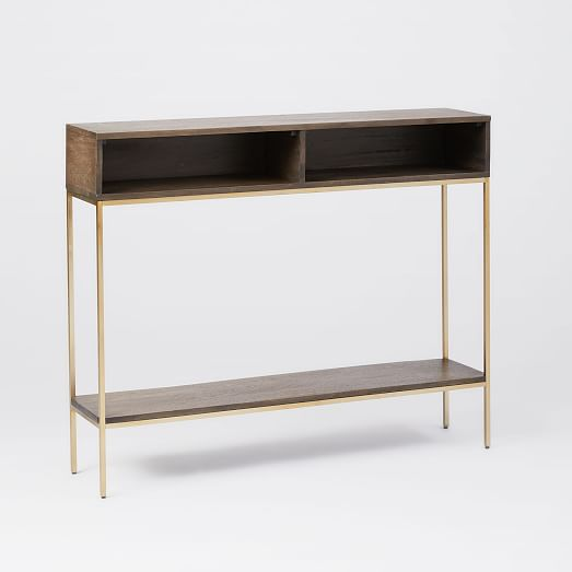 Industrial Storage Skinny Console West Elm